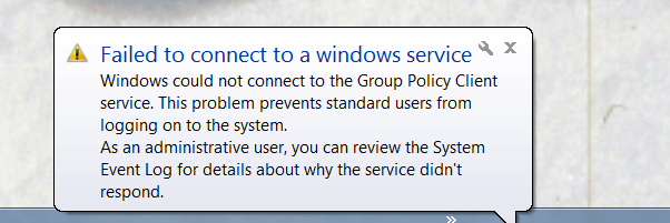 Group Policy on login 2013-01-10